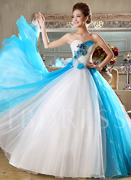 Sweetheart Flowers Appliques A-Line Floor-Length Quinceanera Dress