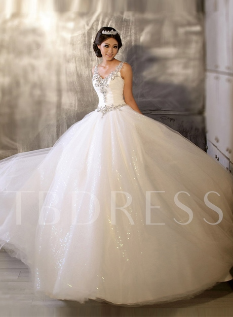 Super Ball Gown Floor-length Beaded Wedding Dress