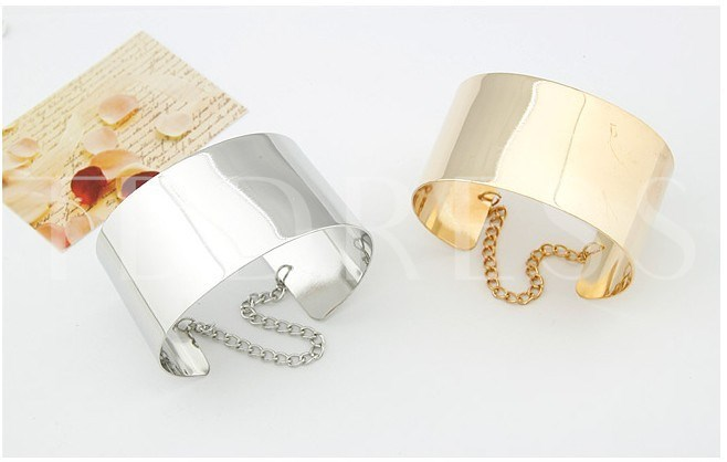 OL Style Opening Bangle -Golden/Silver