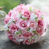 Best Cloths Pink Flowers Wedding Bouquet