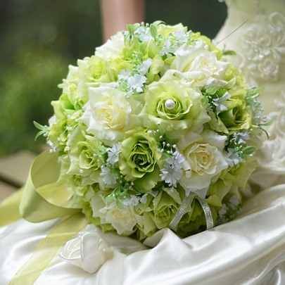 Best Cloths Green And Ivory Flowers Wedding Bouquet Best Cloths Green And Ivory Flowers Wedding Bouquet