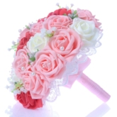 Best Lace Pearl Red/White/Pink Rose Starry Sky Wedding Bouquet