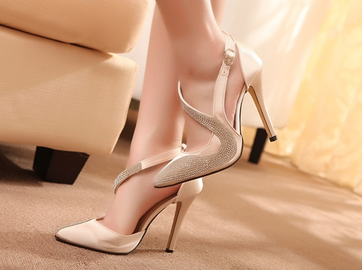 Formal Stiletto Heels Rhinestone Cheap Women's Pumps
