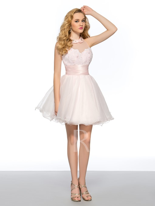 A-Line Short Center Back Zipper Short Homecoming Dress