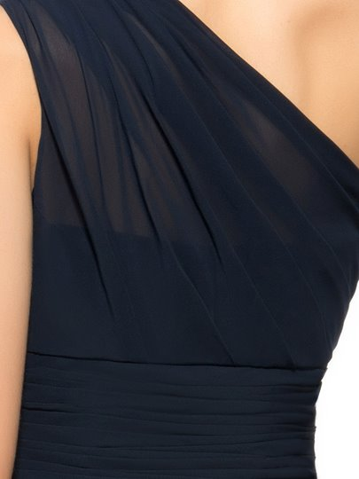 One Shoulder A-Line Pleats Short Homecoming Dress