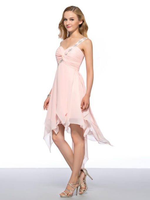 Beaded One Shoulder Strap Sweetheart Short A-Line Homecoming Dress