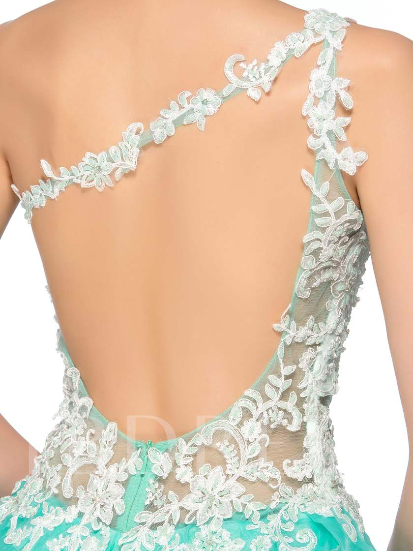 Appliques Beading Short Homecoming Dress