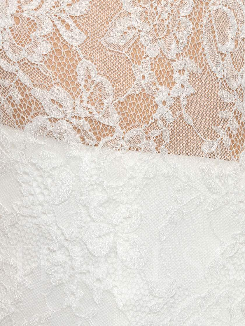 High Neck Lace Short Homecoming Dress