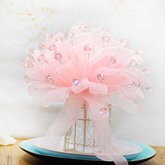 Pink Galloon Water Droplets Bridal Bouquet Wedding Bouquet