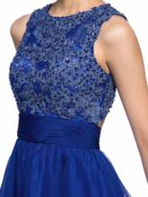 Backless Sequins Appliques Short Homecoming Dress