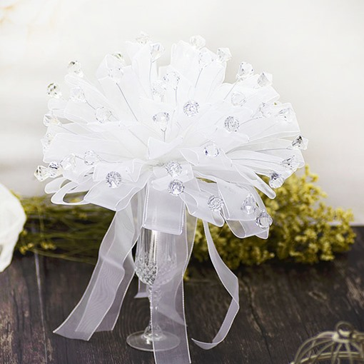 White Galloon Water Droplets Bridal Bouquet Wedding Bouquet