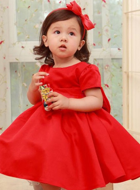 Short Sleeves Bowknot Flower Girl Dress
