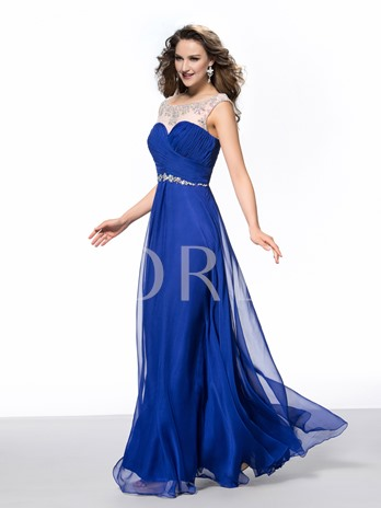 A-Line Square Evening/Prom Dress