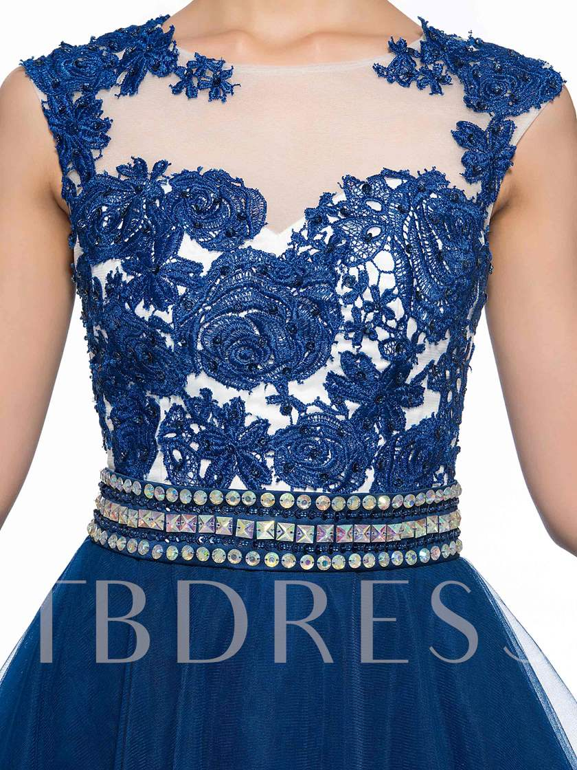 Lace Appliques Beading Short Homecoming Dress