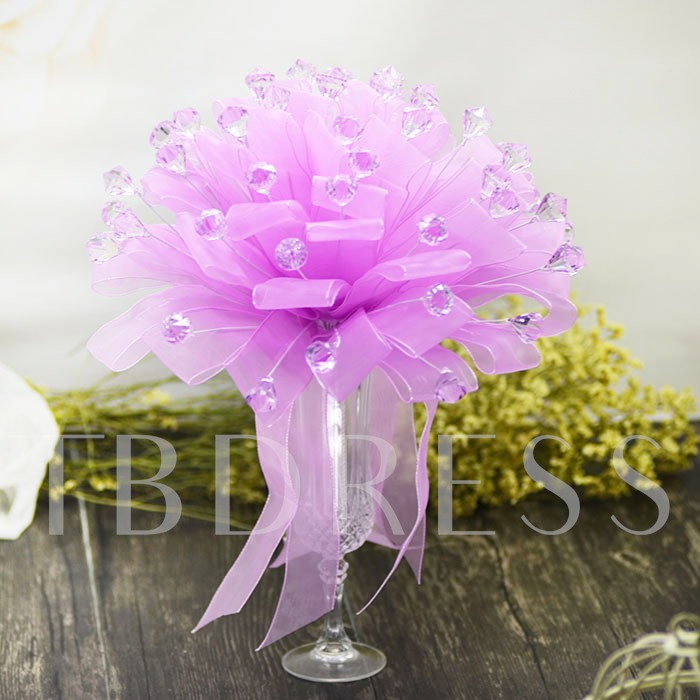 Purple Galloon Water Droplets Bridal Bouquet Wedding Bouquet