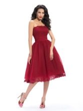 Strapless Appliques A-Line Homecoming Dress