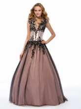 Feathers V-Neck Appliques Quinceanera Dress