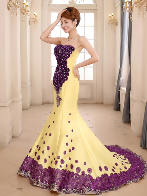 Mermaid Sweetheart Court Train Evening Dress