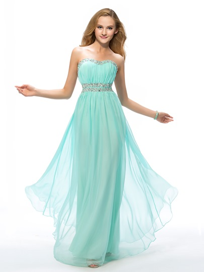 Sweetheart Beading A-Line Floor-Length Prom Dress