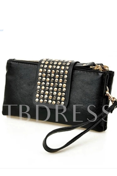Korean Style Rivet Women's Wallet