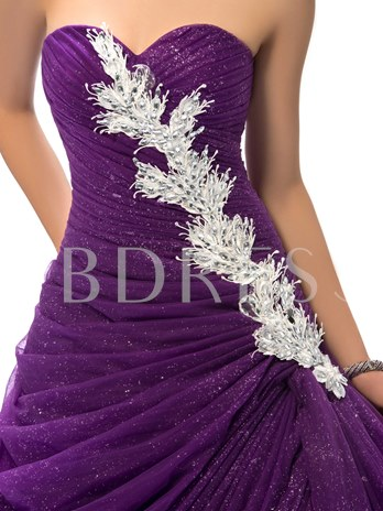 Sweetheart Ball Gown Lace Quinceanera Dress