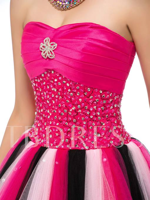 High-Class Sweetheart Full-Length Lace-Up Quinceanera Dress