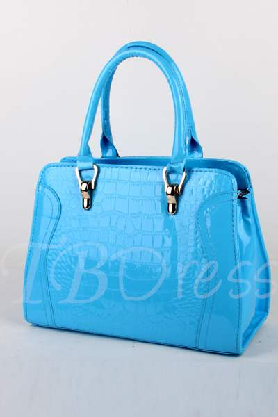 Multi Color Crocodile Print Women Hand Bag