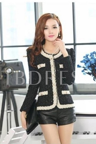 Long Sleeves Round Neck Cotton Jacket