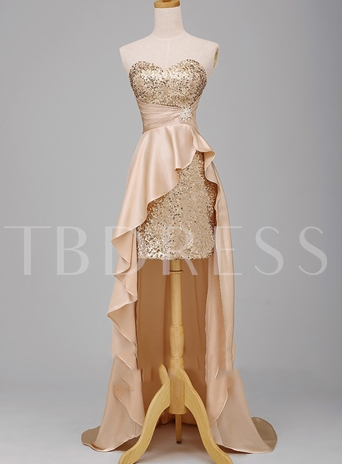 Sweetheart Sequins High Low Evening/Prom Dresses