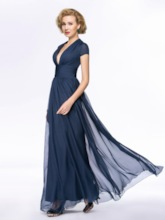 Empire Waist Short Sleeves Mother of the Bride Dress