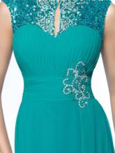 Jewel A-Line Sequins Ruched Mother of the Bride Dress