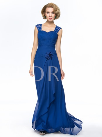 Beading Straps Zipper-Up Mother Of The Bride Dress