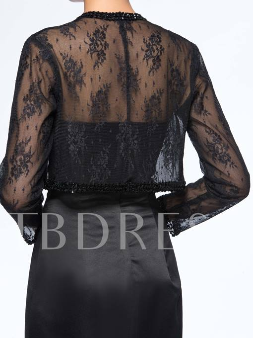 Beaded Column Mother of the Bride Dress With Lace Jacket