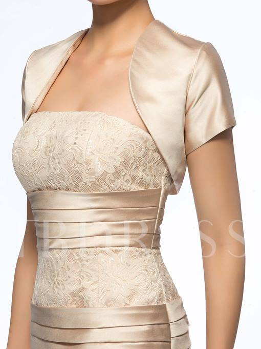 Strapless Pleated Sheath Short Mother of the Bride Dress With Jacket/Shawl