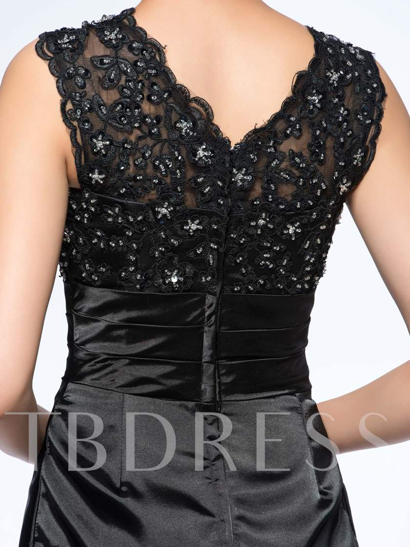 al Sheath Lace Beading Mother Of The Bride Dress