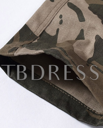 Coffee Mid-Waist Camouflage Men's Pants