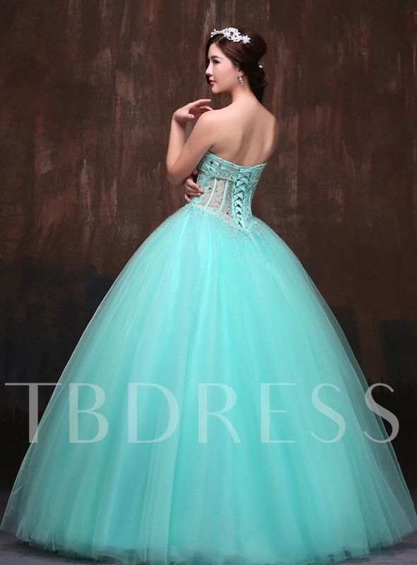 Sweetheart A-line Beadings Rhinestone Quinceanera Dress