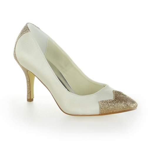 Satin Shimmering Powder Stiletto Wedding Shoes