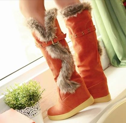 Elevated Heel Women's Long Snow Boots(Plus Size Available)