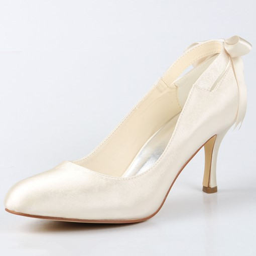 Satin Stiletto Wedding Shoes