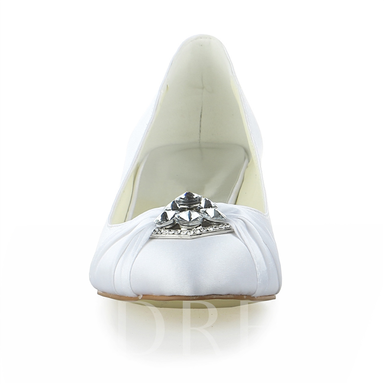 Satin Short Heel Bridal Shoes