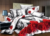 Rose Beauty 4-Piece Polyester Bedding Sets Duvet Covers