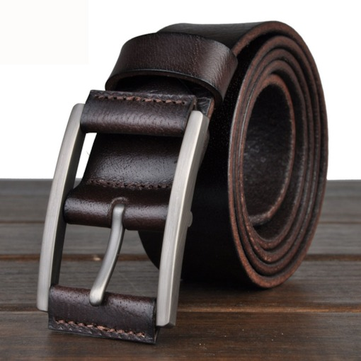 Pin Metal Buckle Men's Belt