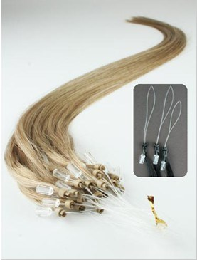 Micro Loop Ring Ash Blonde Hair Extensions Human Hair