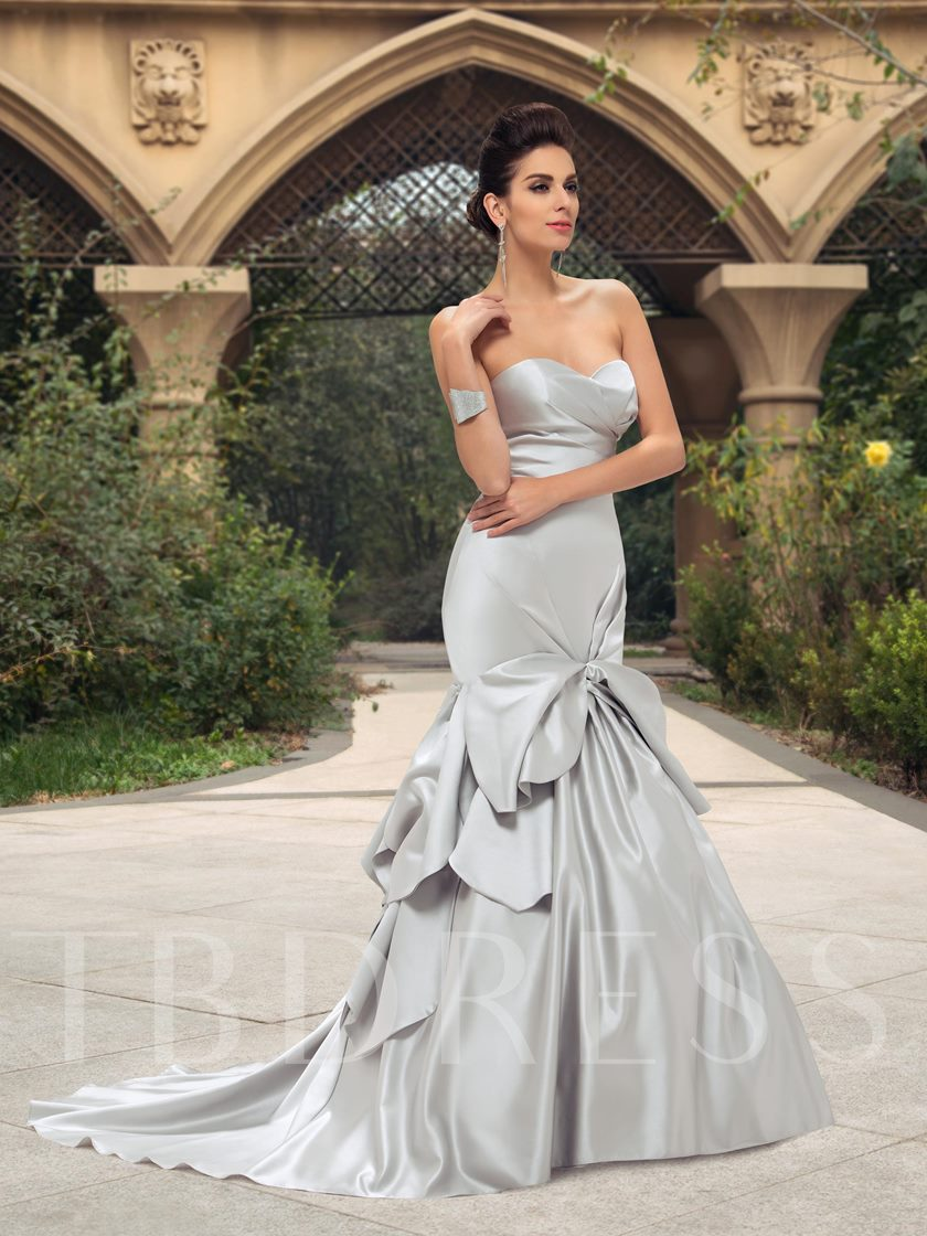 Sweetheart Pick-Ups Mermaid Wedding Dress