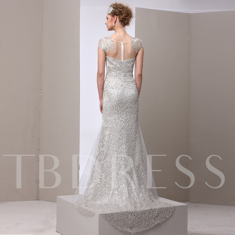 Sheath Sequins Lace Mother of the Bride Dress