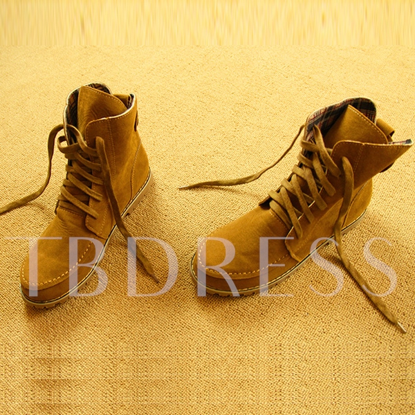 Multi-Color Round-Toe Lace-Up Short Women's Martin Boots