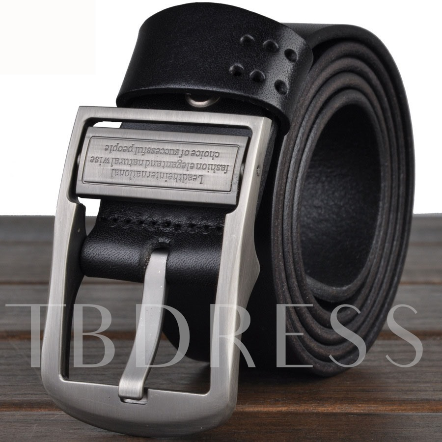 Pin Buckle Wide Man's Belt