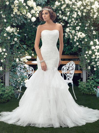 Strapless Lace Bodice Mermaid Wedding Dress