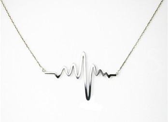 Gold Heartbeat Style Women's Necklace
